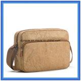 新しく物質的なDu Pontのペーパーメッセンジャー袋、ナイロン調節可能なベルトが付いている環境に優しいOEM Tyvekのペーパーショッピングショルダー・バッグ