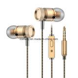 Earplugs all'ingrosso dell'universale del calcolatore del telefono mobile del MP3 della spigola della cuffia avricolare dell'orecchio del metallo