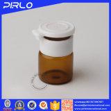 couleur de 1ml Brown Vail en verre pharmaceutique avec le couvercle violent