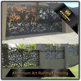 De decoratieve Omheining van de Tuin van de Villa van het Aluminium van de Kleur Macht Met een laag bedekte