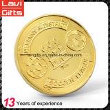 Monedas del recuerdo del color del oro del OEM de la alta calidad