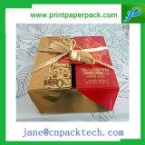 Rectángulo de empaquetado de papel de lujo de encargo de Mooncake del rectángulo de regalo