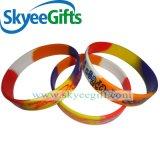 Braccialetto promozionale poco costoso su ordine del silicone del regalo