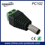 Connecteur CCTV Appareil-photo Homme DC avec Terminal Vis (PC102)