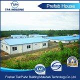 Construcción de viviendas prefabricada de la construcción de la estructura de acero para el trabajo