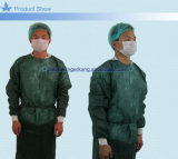 Vestido médico no tejido cubierto plástico