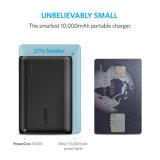 AnkerPowercore 10000 Portable-Aufladeeinheit, eine der kleinsten und hellsten externen Batterie 10000mAh, Hoch-Geschwindigkeit-Aufladen-Technologie 10000mAh Energien-Bank (Schwarzes)