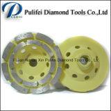 Roda de alumínio de moedura do copo do diamante de Turbo do segmento do metal de pedra concreto