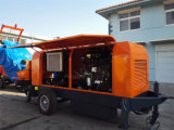 Bomba concreta móvel com motor Diesel