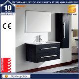 Schwarzer Melmine MDF-Badezimmer-Möbel-Schrank mit Spiegel