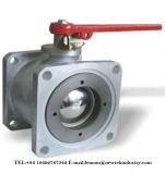 Válvula de esfera da flange do quadrado do aço inoxidável (Q41F-16P)