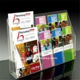 De duidelijke Plastic Muur zet de Houder van de Brochure van 4 Laag A4 (op btr-H6050)
