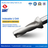 Zhuzhou Sant Ud30からのIndexable Uのドリル。 Sp11.340. 炭化物の挿入Spgt110408かSpmg110408が付いているW32鋭いツール