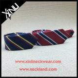 100% de lã de seda artesanal Blend Woven Skinny Tie for Men