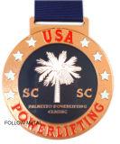 Medaglia del premio per la Lega di Football Americano regionale, smalto molle, nastro