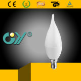 C37 6W E14 6000k LED Kerze angebunden