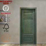 La mano ha intagliato il disegno decorativo del portello interno della camera da letto (GSP2-074)