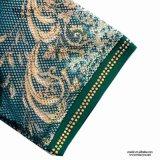 Платье сетки флористической печати Miss Вы Ailinna 305519 зеленое с средств длиной