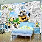 カスタムおかしくかわいい漫画は子供部屋のための子分の写真の壁紙の壁画を押し進ませる
