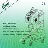 Matériel portatif de beauté d'épilation de chargement initial de l'E-Lumière (IPL+RF)