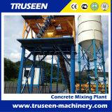 Machines de construction concrètes compactes stationnaires préfabriquées de centrale de malaxage de matériel
