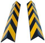黒く及び黄色のゴム製正方形の角度の壁のすみ金(DH-129)