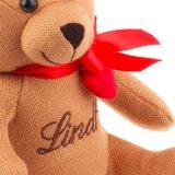 Kintted 견면 벨벳 연약한 장난감은 리본을%s 가진 장난감 곰을 채웠다