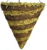 [بروون] [رتّن] فرشاة وخضراء طحلب حبل مخروط يعلّب سلّة