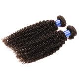 Cabelo Curly brasileiro do Virgin do Virgin não processado profundo brasileiro do cabelo humano do delicado 100 da onda 8A de 4 pacotes pacotes brasileiros do Weave do cabelo