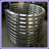 Boucle en acier de roulements de grand diamètre modifiant les boucles roulées sans joint de pièce forgéee de boucle