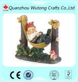 Statues drôles de gnome de jardin de résine de jardin de cadeaux extérieurs faits sur commande de décoration