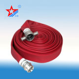 Manichetta antincendio allineata PVC rossa di colore