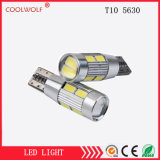 Продавать фабрики сразу 5630 ширина индикации светильника 10SMD расшифровывать T10 СИД светлого сигнала тревоги расшифровывать 5630-10