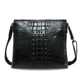 Men Genuine Leather Sling Bag Crocodile Shoulder Messenger Bag