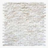 Шестиугольные белые мраморный плитки мозаики