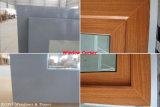 Окно рамки двойного стеклянного деревянного цвета сползая окна UPVC пластичное