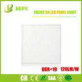 Luz del panel ultra fina caliente del cuadrado 36W 40W LED del aluminio de la venta Ugr<19 120lm/W