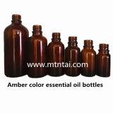 Botellas de petróleo esencial ambarinas del vidrio del color