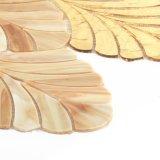 벽 훈장 금과 브라운 보석 잎 수정같은 도와 모자이크