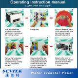 Documento bianco della decalcomania della trasparenza di acqua di colore del laser di formato A4
