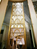 Hotel Project Hall Lobby Stainless Steel Background Wall Decorativo Metal Screen Gold Color