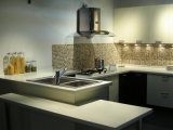 100%のアクリルの固体表面の台所は越える(GMA)