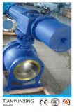 API bridado motorizado Fin neumática Aire actuador de la válvula de bola