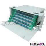 Unidad de ODF de fibra óptica montada en bastidor / Panel de conexiones 4u 19 pulgadas Deslizamiento hacia fuera