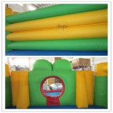 Замок лягушки конструкции воды кокосов раздувной цветастый для сбывания LG9050