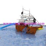 De houten Speelplaats van het Huis Aqua voor het Park van het Water (a-06202)