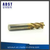 laminatoio di estremità dell'acciaio di tungsteno di 62HRC 4flute per la macchina di CNC