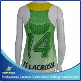 Lacrosse-Rennen-Rückseitereversible-Oberseite des kundenspezifischen Sublimation-Mädchens