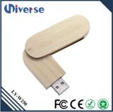 Movimentação de madeira do flash do USB do volume feito sob encomenda relativo à promoção do logotipo do presente 2016
