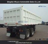 2개의 차축 Bogie 현탁액 큰 양 Hyva 유압 장치를 가진 50 톤 덤프 팁 주는 사람 또는 기울이기 쓰레기꾼